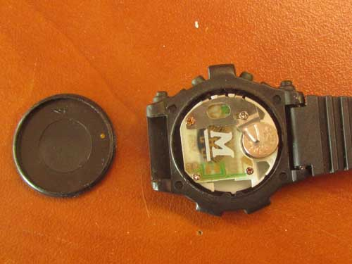 wrist watch cover open.